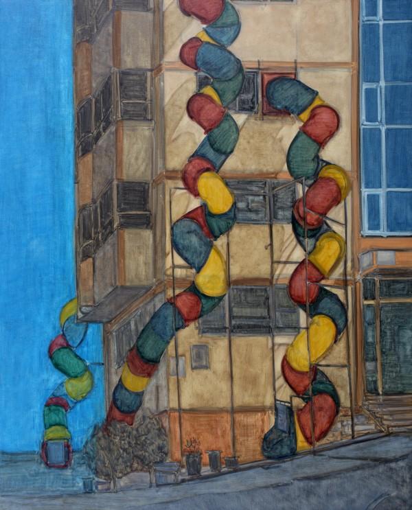 8.어린이의 집, 130162, 캔버스 위에 유채, 2011