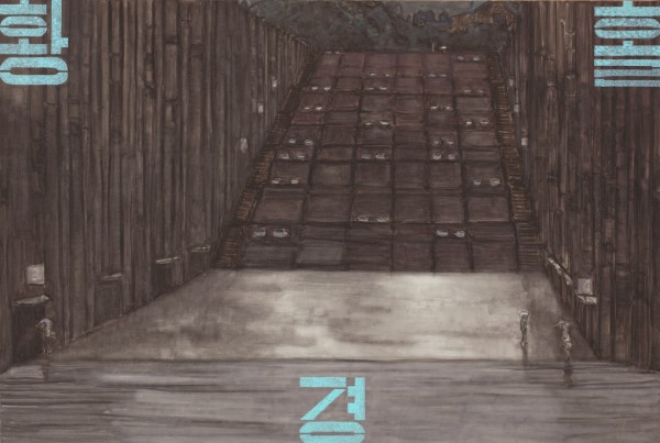 27.제단祭壇-비오는 날의 이화여대, 194130, 캔버스 위에 유채, 2011