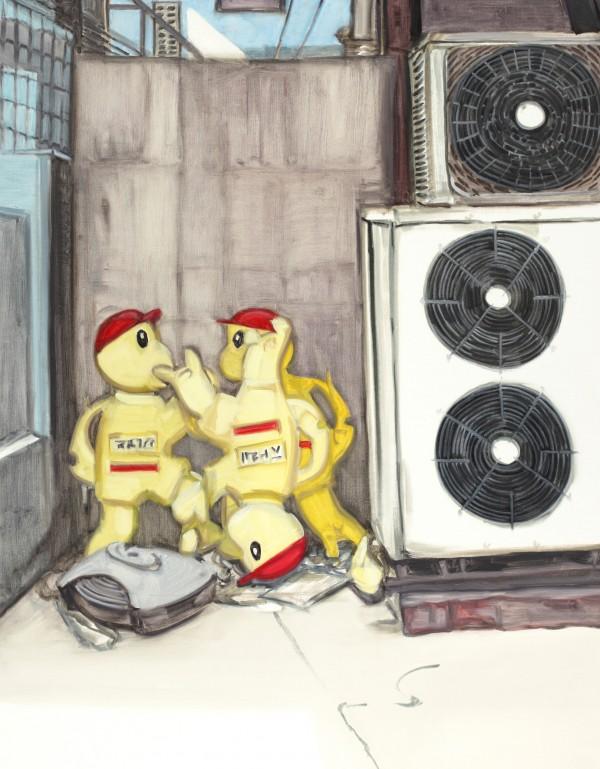 6.잉여들 91118, 캔버스 위에 유채, 2011