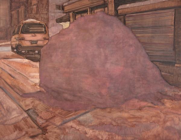10.폭설-순정의 밤, 112145, 캔버스 위에 유채, 2011