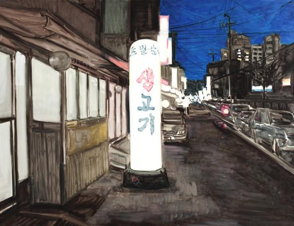 18.춘의동, 112145, 캔버스 위에 유채, 2011