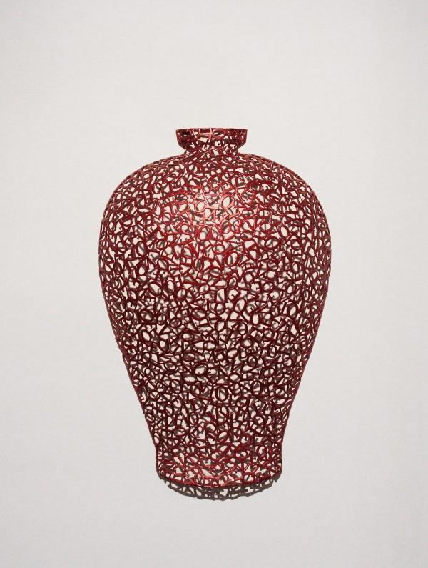 Pottery-love(130925) _steel, car paint_45x70x15cm_2013