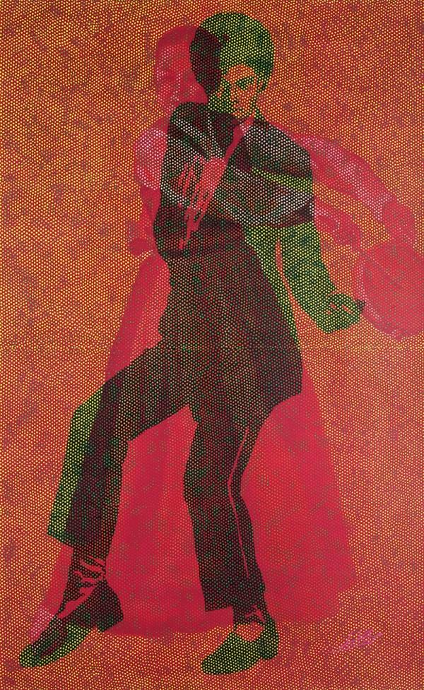 5무희자연261001.순지에인두,채색X2,장지에채색,배접,코팅.120X190.2009뉴욕6