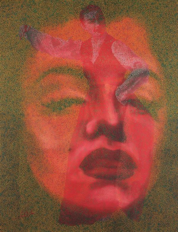 舞嬉自然. 순지에인두,채색,장지에채색,배접,코팅. 134cmX170cm. 2009. 3000만