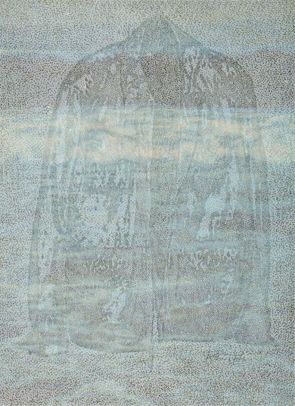 AM6-013005.순지에향불,장지에채색,배접,코팅.121X88cm.2013.1500만