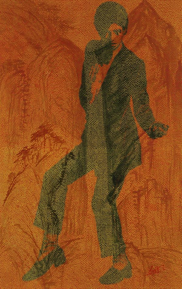 舞嬉自然. 순지에인두,채색,장지에채색,배접,코팅, 120cmX190cm. 2009. 3000만